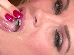 A wild compilation of sexy girls getting sticky facials