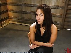 Asian Nymphomaniac Wears Fishnet Stockings In BDSM Clip