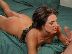 Magnificent brunette Dayton Rain knows how to make a dick stiff