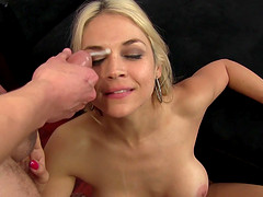 Fake tits Sara licking asshole then pounded hardcore