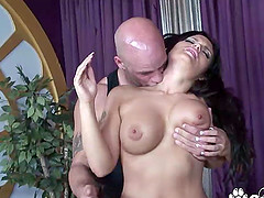 Huge and perfect boobs Jasmeen Le Fleur fucks and gets facial