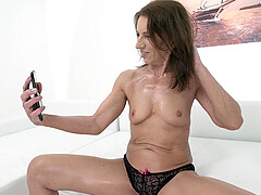 Mature granny Viol doggy style fucked and cum sprayed