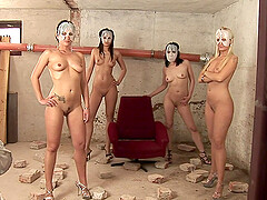 Kinky outdoor group sex fuck with Simone Style and her masked friends