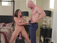 Ariella Ferrera pussy licked and choked while fucked missionary