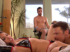 Unforgettable Nautica Thorn gets her pussy fucked while her husband watches