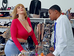 blonde mature Sara Jay adores to fuck with young and black stranger
