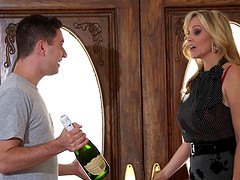 Cum in mouth ending after passionate fucking with MILF Julia Ann