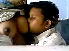 Hot big tittied Indian woman gets her boobs licked