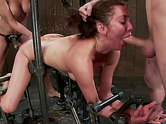 Isis Love and her BF torment Princess Donna in a basement
