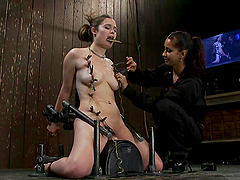 Charlotte Vale gets tormented and mouth fucked in BDSM vid