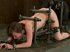Seda gets her cunt toyed to orgasm in terrific BDSM scene