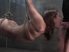 Stunning Amber Rayne gets suspended and fucked hard