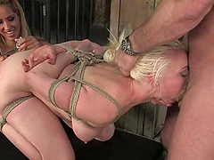 Luscious Lorelei Lee gets naked and tied up by Isis love and her man