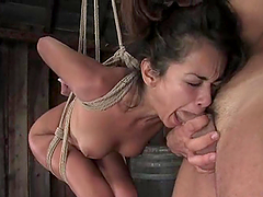 Passionate BDSM sex with a slender slave Daisy