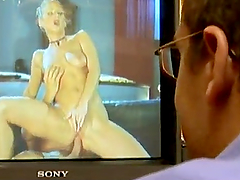 Petite Dora Venter gets rammed by two big cocked guys