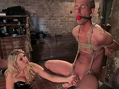 A mistress punishes her man then fucks him in the ass