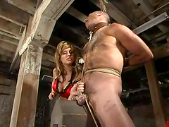Ed Stone enjoys having a stick in his butt in BDSM scene