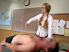 Lewd teacher Top James gets dominated by wicked student Princess Kali