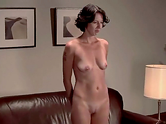 Hot brunette Victoria K gets her vag toyed while being tied up