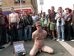 Homosexuals Go Wild Outdoors Playing Bondage Games