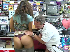 Adorable Giselle Gets Her Nice Ass Fucked At A Sex Shop