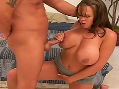 Brandy Talore's big boobs bounce as she gets banged in many positions