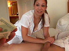 Sexy masseuse agrees to have sex with a client for money