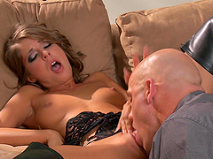 Spectacular Presley Hart Goes Really Hardcore Over A Couch