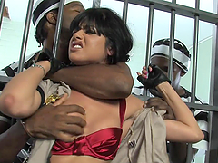 Astounding Sadie West Has Rough Sex With Two Prisoners