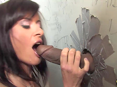 Wonderful Cecilia Vega Serves An Interracial Blowjob