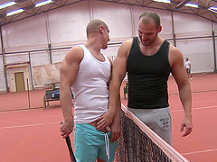 Delightful Tomm And Max Born Go Hardcore After Playing Tennis