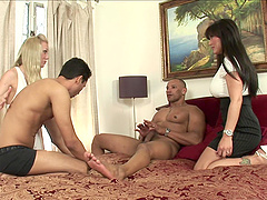 Samantha Sin, Claire Dames, Gabriel D'Alessandro And Jay Cruz Have Group Sex