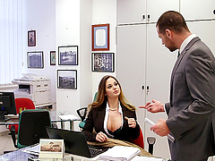Cathy Heaven is fucked until her big tits are covered by semen