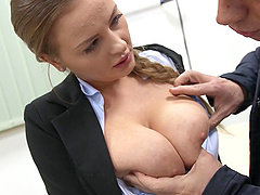 Chubby Girl With Big Natural Tits Enjoying A Hardcore Fuck In A Classroom
