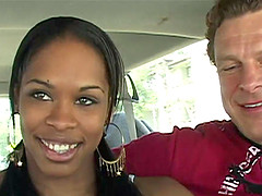 Anal ebony Vanessa Monet takes dick in ass and cunt and cum in mouth