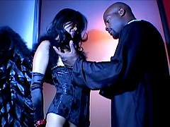 Asian Lucy Lee gets her asshole feasted by black cock in interracial sex