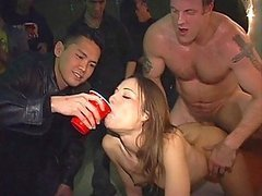 Drunk Brunette Teen Gets Fucked In A Party By A Big Cock