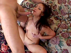Jayna Oso sucks a boner with passion and takes a hot ride on it