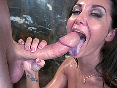 Beautiful Cougar Enjoying A Hardcore Doggy Style Fuck In The Shower