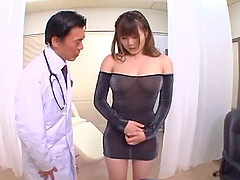 Japanese cowgirl with big tits gives great hardcore titjob