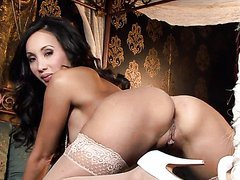 Asian Milf Katsuni Wears Sexy Lingerie While She Masturbates