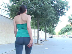 A curvy babe goes for a jog then gets her ass worked by a fat cock