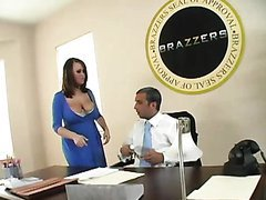 Big Breasted Brandy Talore Sucking and Fucking the President's Big Cock