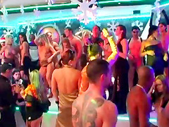 Party girls dancing to the music and fucking guys in a club