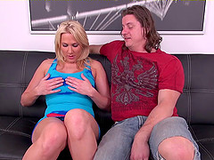 Blonde maid masturbates and gets into a shagging adventure