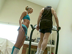 Lucky geezer manages to penetrate the attractive instructor