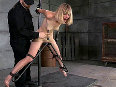BDSM session featuring a dirty blonde whore Mona Wales