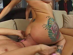 Adrianna Nicole has her face and pussy screwed by Mark