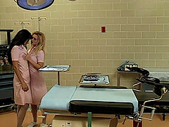 Nice ass nurse lesbian Brittany Andrews gets licked superbly