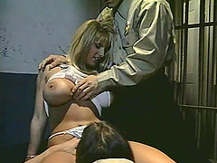 Brittany Andrews enjoys a couple of boners in a jail cell